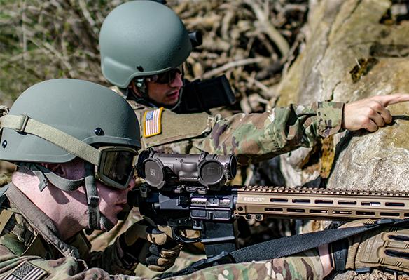 Soldiers in warfare wearing Tactical Eyewear